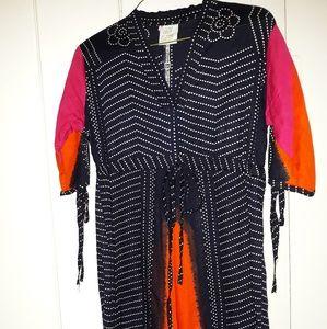 Vintage Bohemian Ethnic Maxi Dress Size M